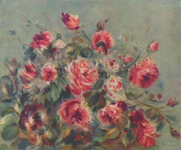 Ренуар Пьер Огюст.  Розы из Варжимона